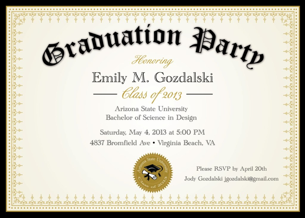invitations for graduation party templates
