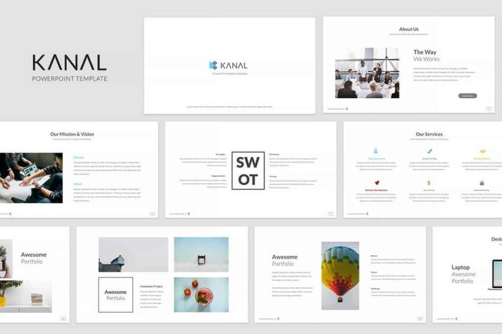 kanal simple powerpoint template theme junkie
