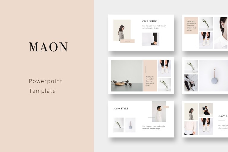 maon powerpoint modern and simple template
