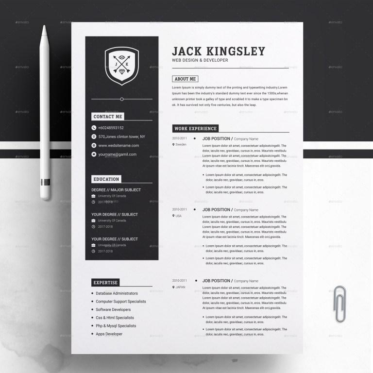 minimalist resume cv template