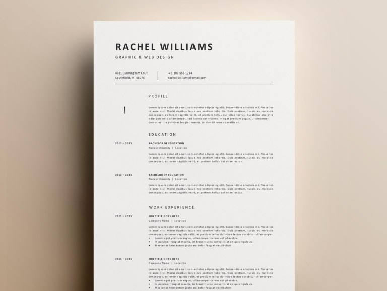 minimalist resume resume templates on dribbble