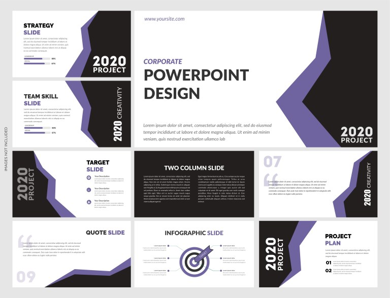modern powerpoint template vector file