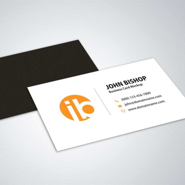 modern simple business card mockup design
