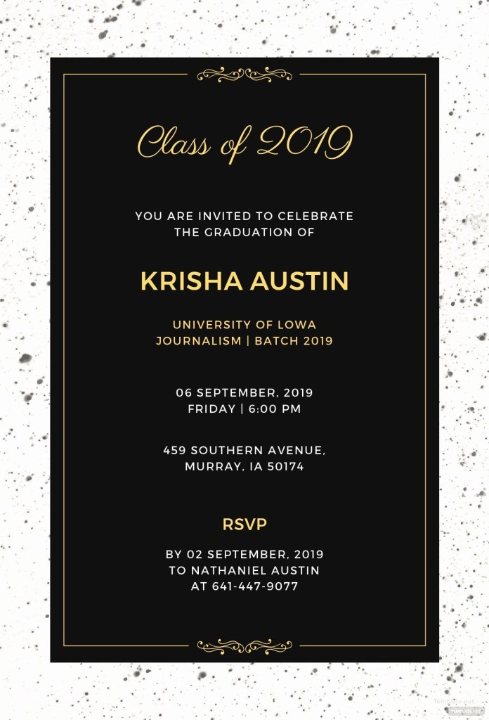 new graduation dinner invitation template in 2020 dinner