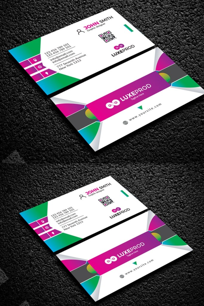 new style simple business card corporate identity template