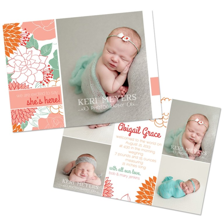 newborn announcement template north phoenix