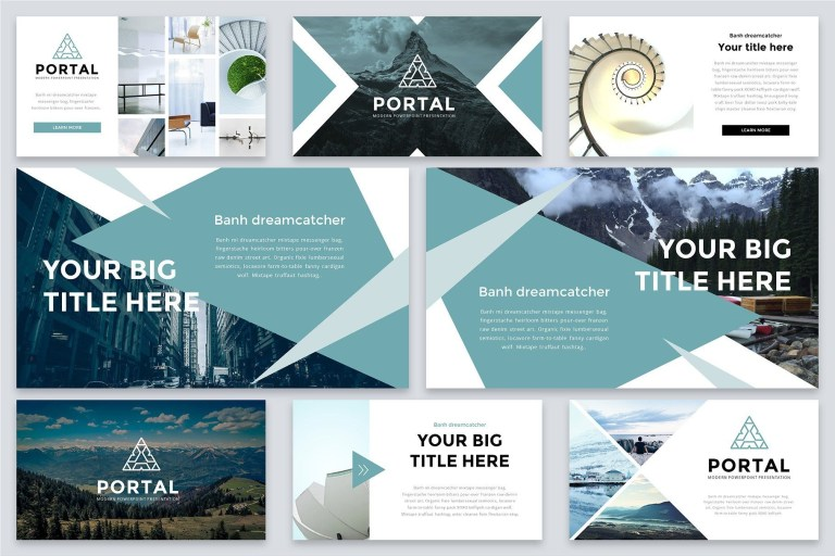 portal modern powerpoint template with images ppt