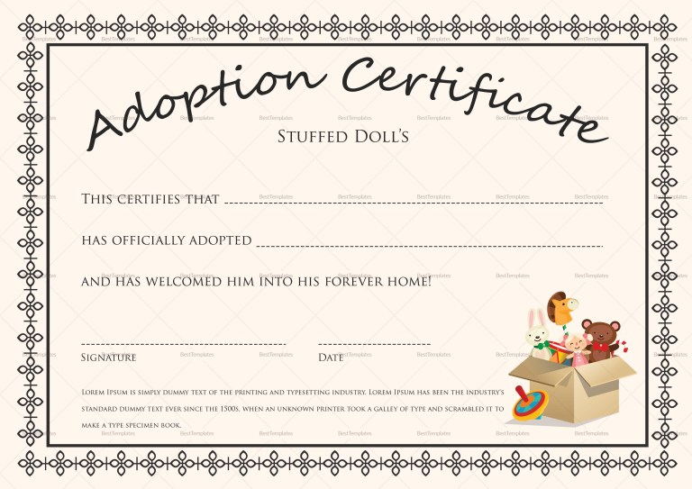 printable blank ba birth certificates templates