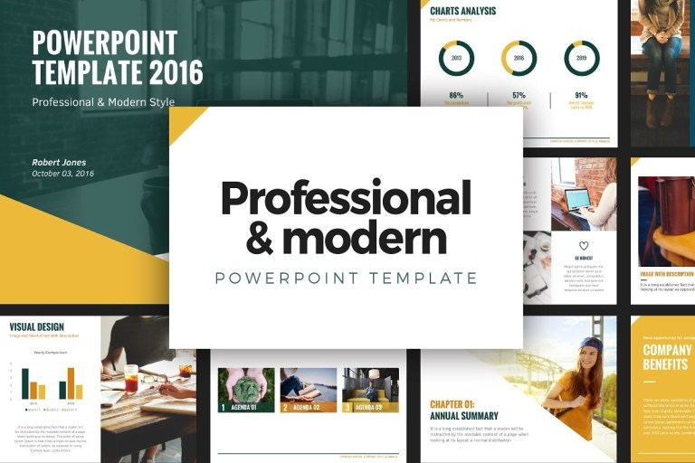 professional modern powerpoint template