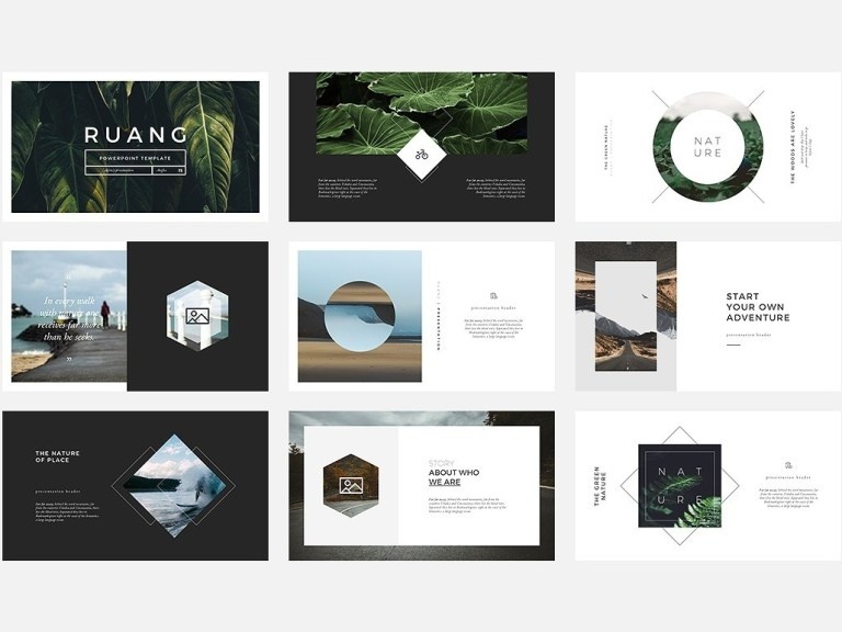ruang powerpoint template templates on dribbble