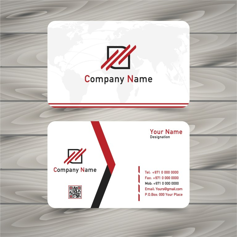 simple business card clipart
