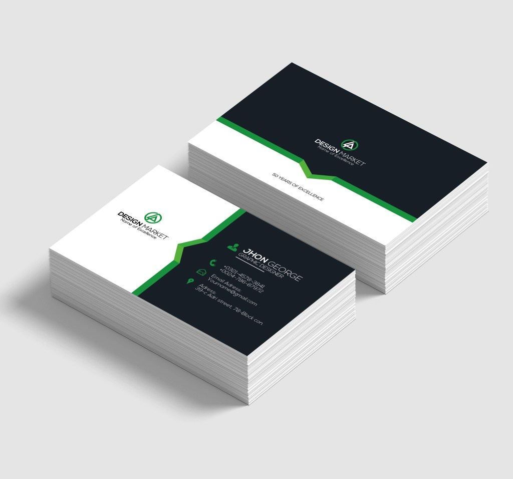simple business cards concept