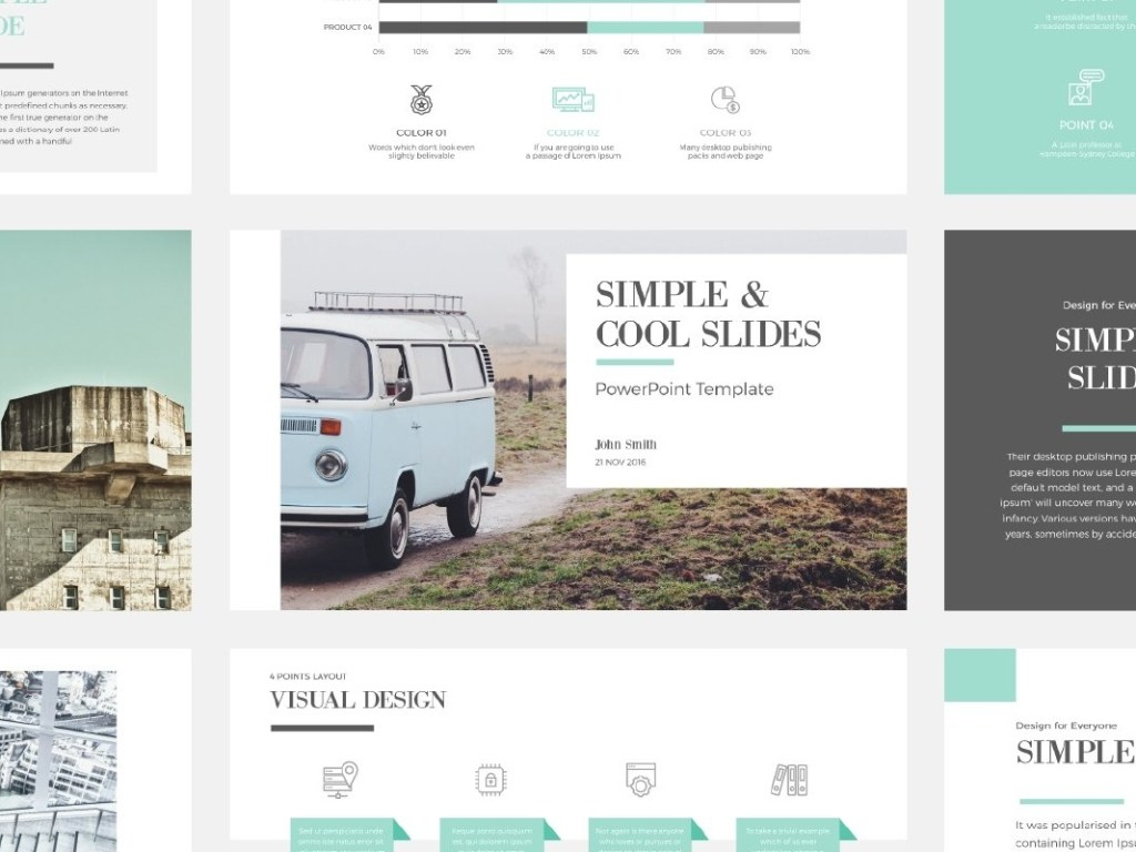 simple cool powerpoint template templates on dribbble