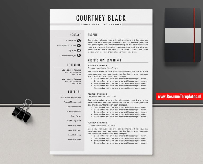 simple cv template resume template curriculum vitae microsoft word resume professional resume design modern resume minimalist resume 1 3 page
