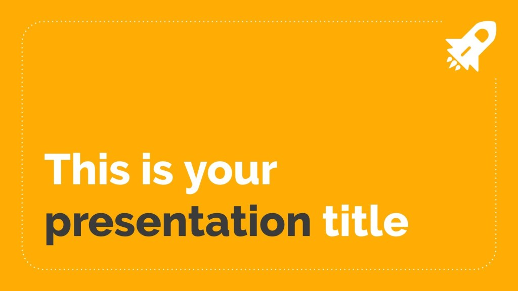 simple powerpoint template or google slides theme with