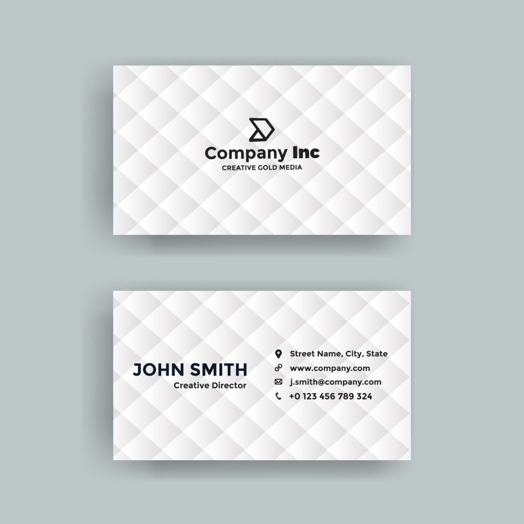 simple white business card vectors