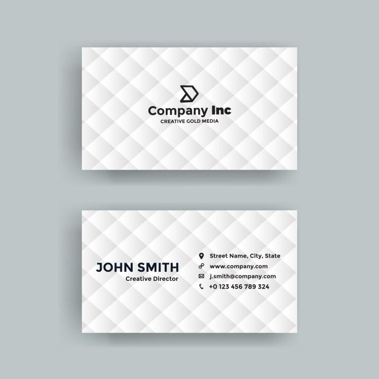 simple white business card vectors
