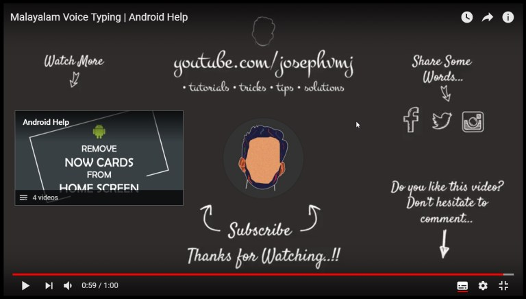 size of youtube subscribe circle and video rectangle