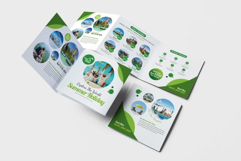 square brochure templates ready to print