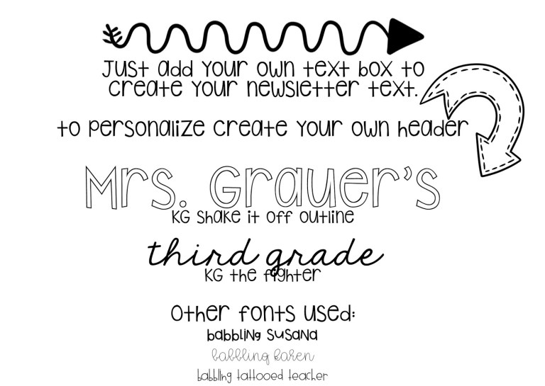 teachers newsletter templates mance