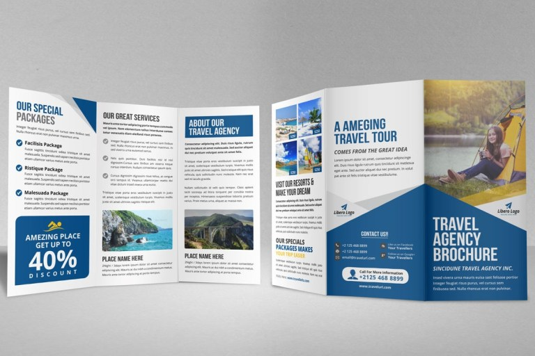 travel brochure design tourism company
