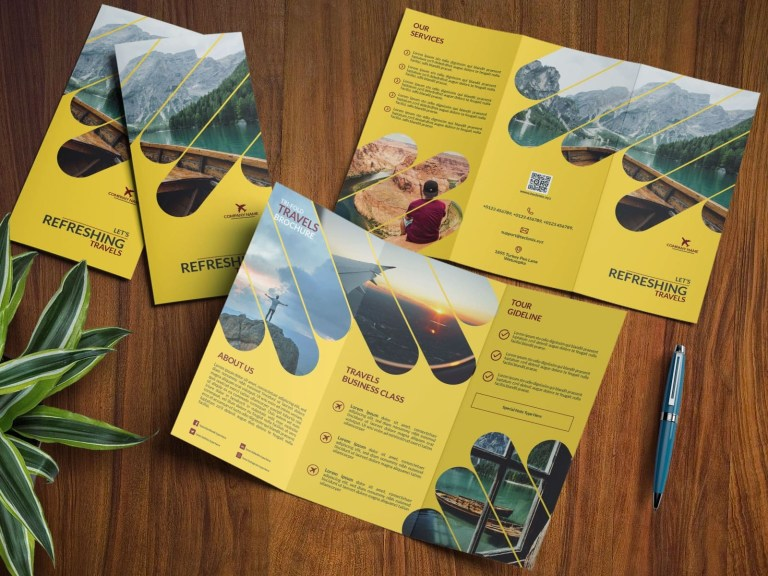 travel tri fold brochure design