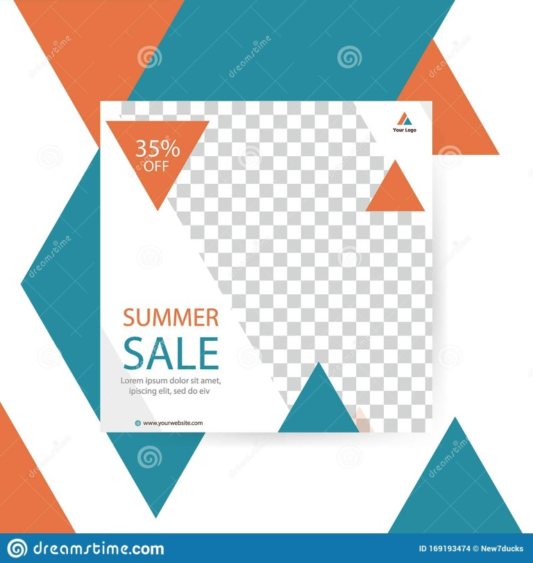 triangle banner template horizontal advertising business