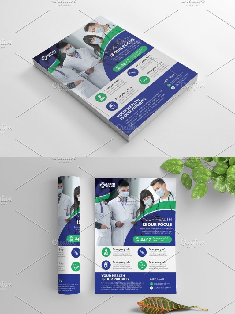 medical advertisement flyer clinic design