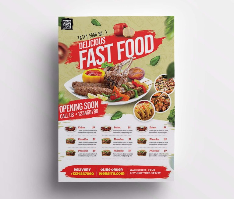 restaurant promotion flyer template psd