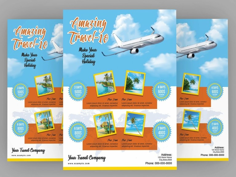 travel agency promotion flyer template