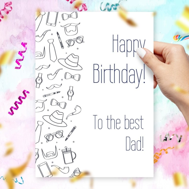 birthday card to the best dad template editable online