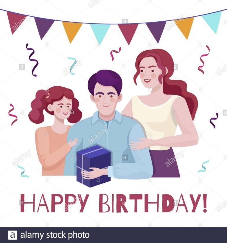 happy birthday vector card concept with text space smiling
