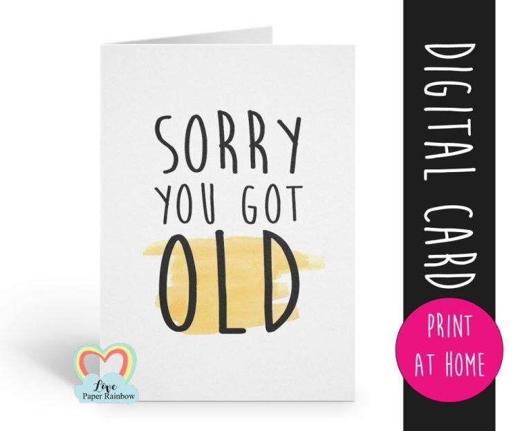 printable birthday card funny birthday card digital
