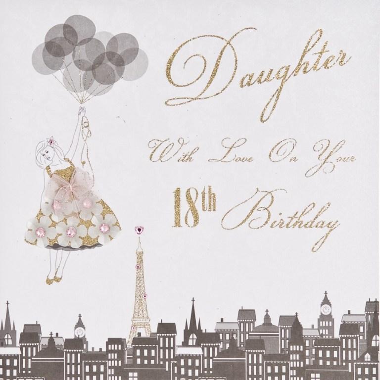 18th daughter handmade birthday card et29