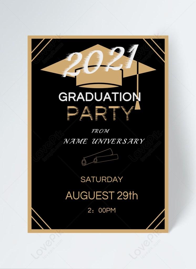 2021 graduation invitation template imagepicture free