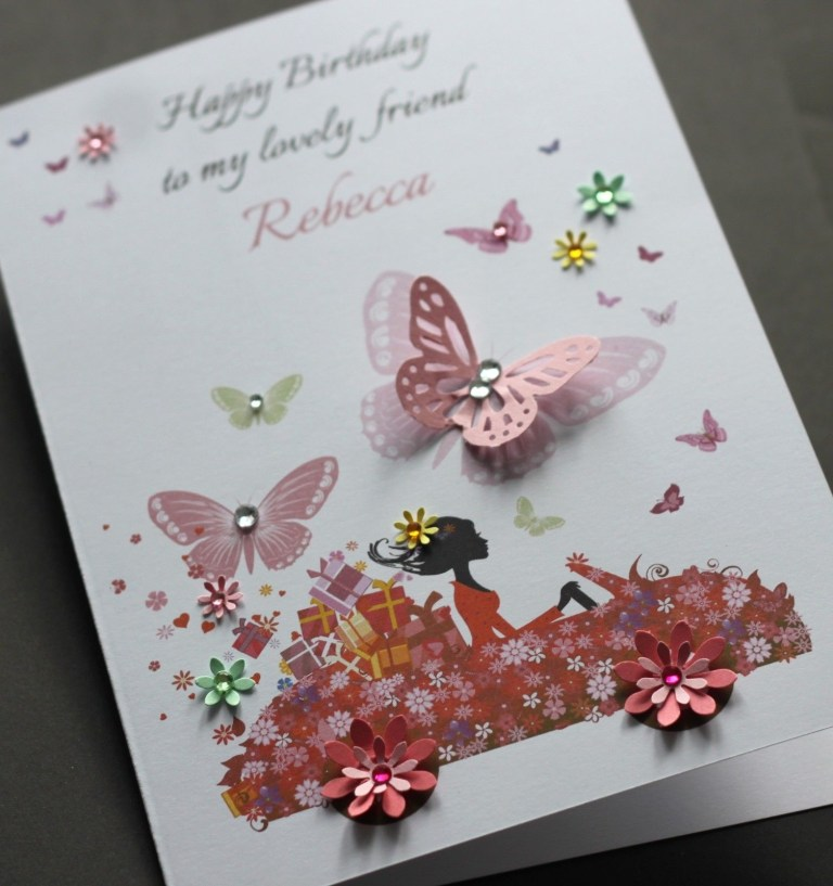 a5 handmade personalised cute car birthday card sister