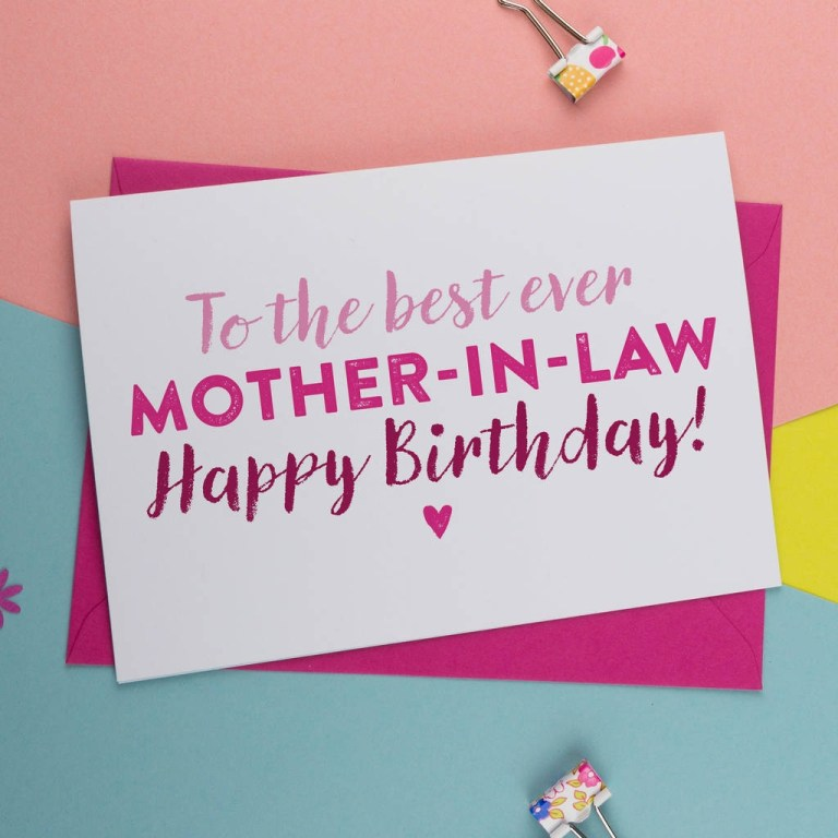 best mother in law birthday card