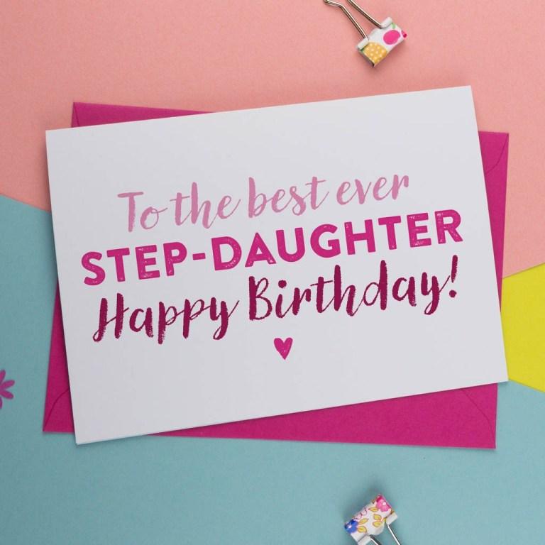best step daughter birthday card