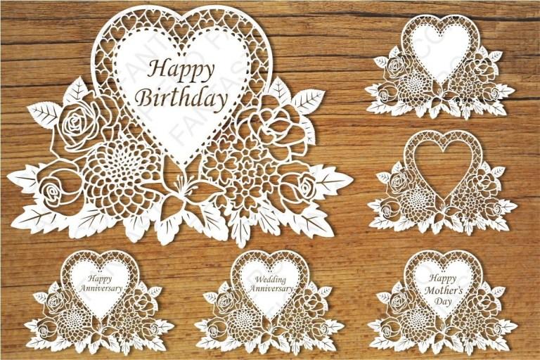 birthday card svg card design template