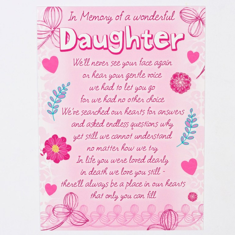 birthday cards for daughter card design template