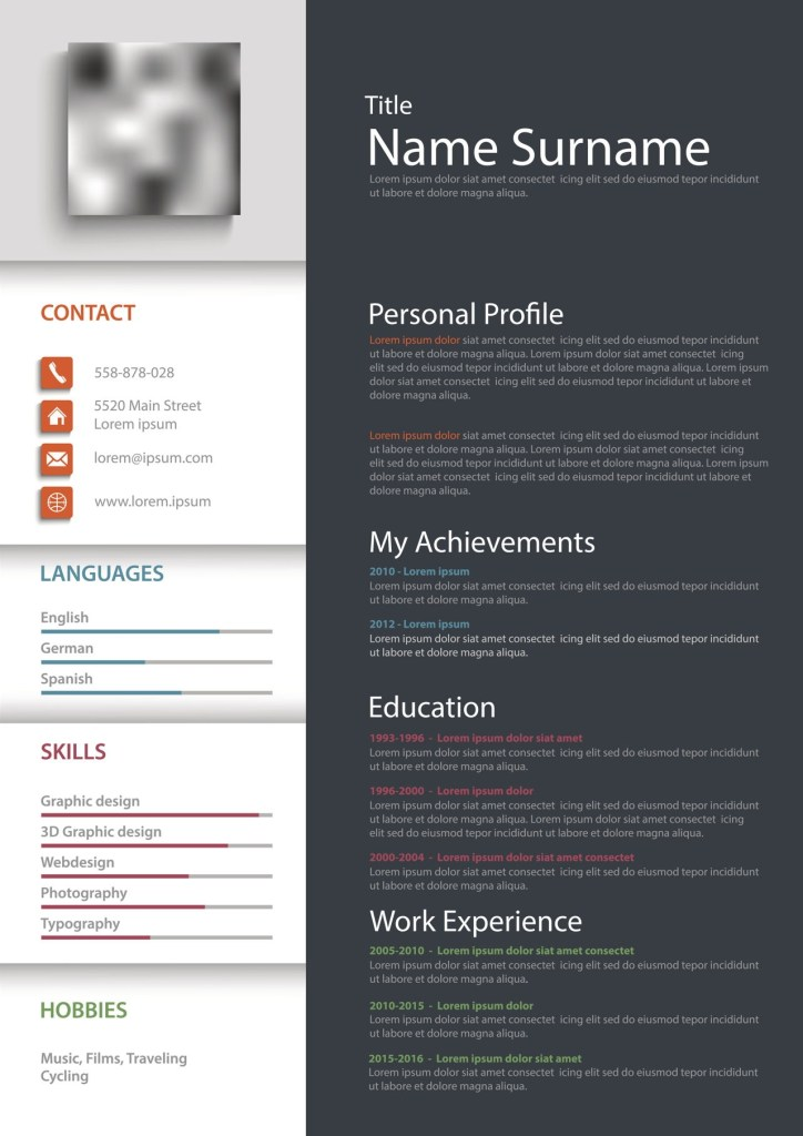 blank resume forms free printable resume templates ibuzzle