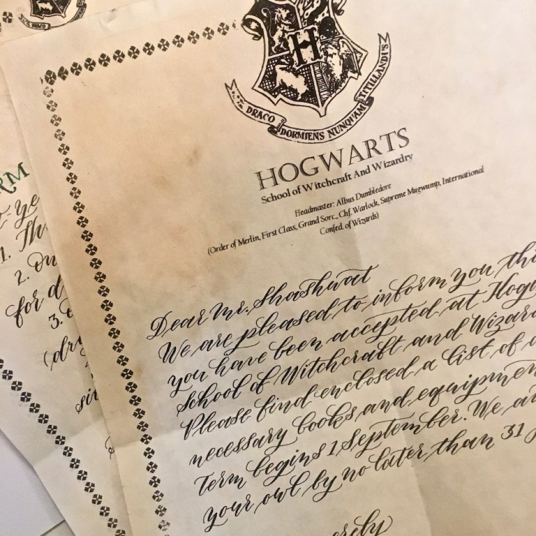 buy a handmade hogwarts acceptance letterthe perfect gift