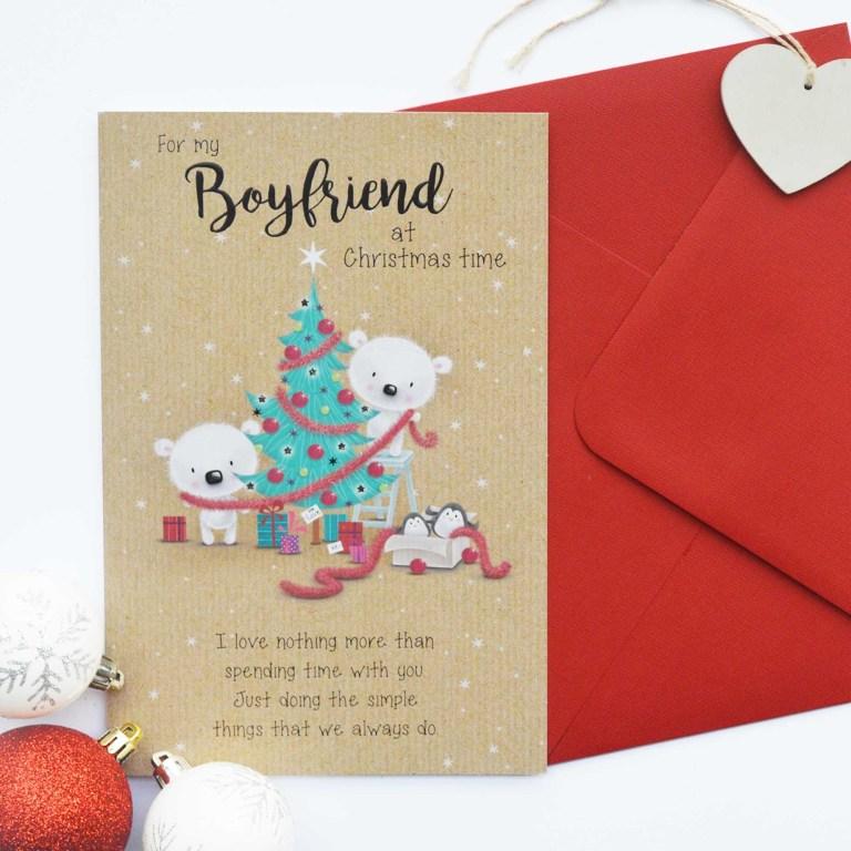christmas card boyfriend garlanna greeting cards