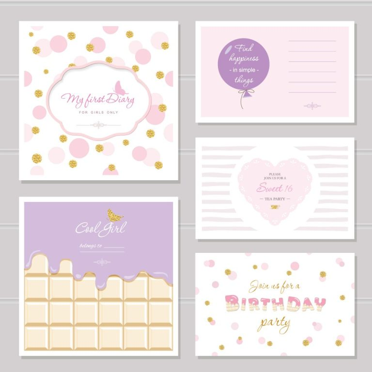 cute cards design with glitter for teenage girls download