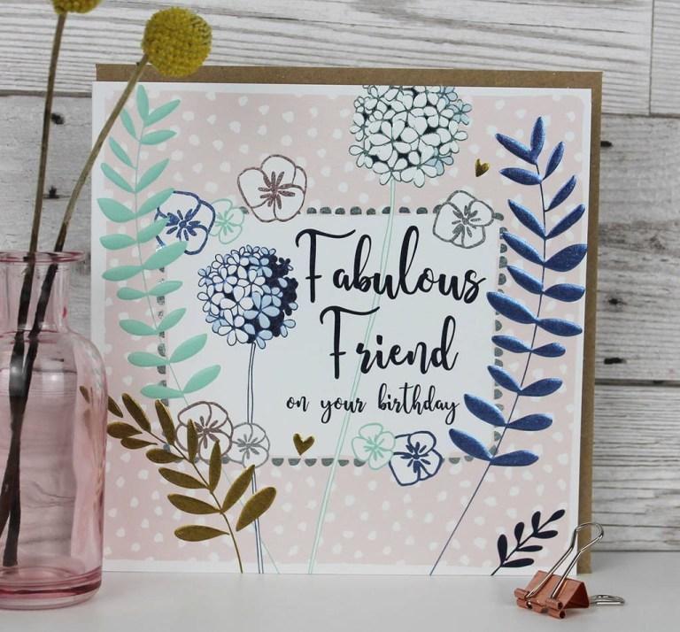 female birthday card for a fabulous friend