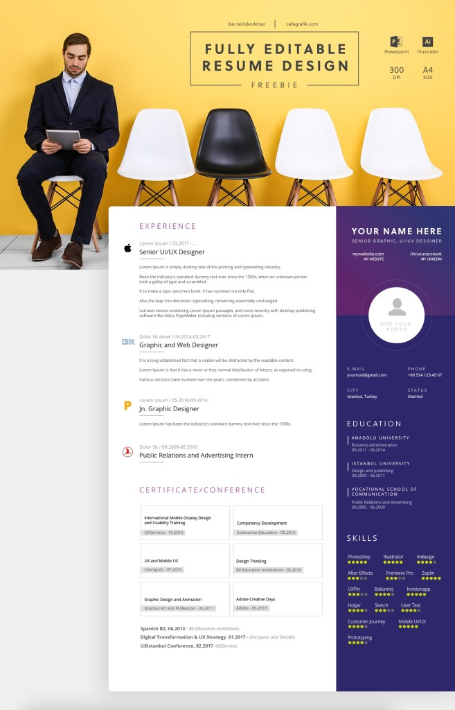 fully editable creative resume template free on behance