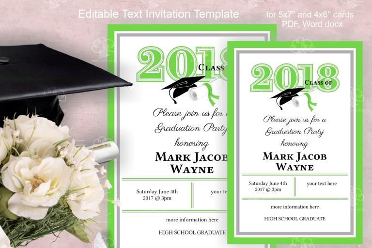 graduation party invitation template page 1 line17qq