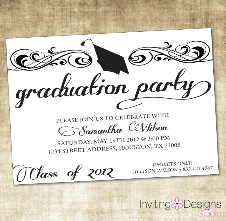 graduation party invitation templates party invitation