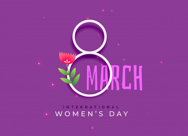 happy international womens day background free vector