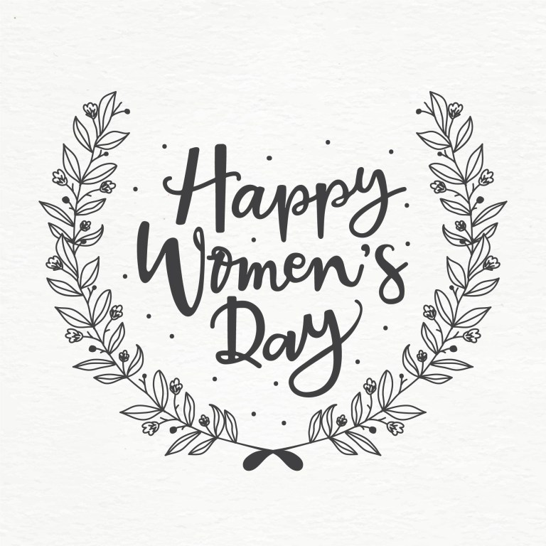 happy womens day wreath vector download free vectors
